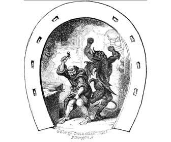 San Dunstán herradura diablo